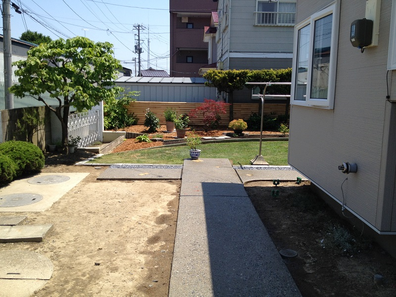 庭をリガーデン施工後2