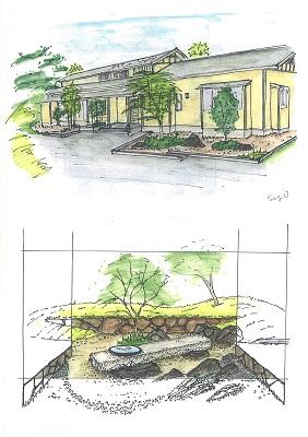 石積のある庭2